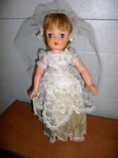 "Horsman 83 ~ Vintage 1950's Beautiful Vinyl Cindy ? Bride Doll 17"""
