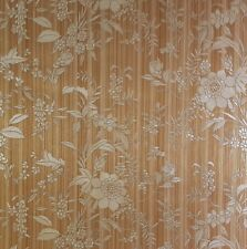 Wallpaper Bronze Gold Floral Heavyweight Luxury Italian Vinyl 3943