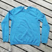 Pendleton Women's Size S 100% Merino Wool Crew neck Sweater Pullover Blue
