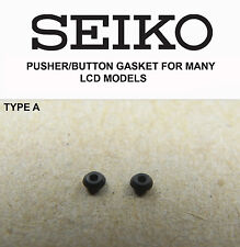 SEIKO PUSHER / BUTTON GASKETS FOR MANY VINTAGE LCD DIGITAL WATCHES TYPE A