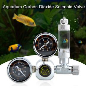 DIY Aquarium CO2 Regulator Magnetic Solenoid Kit Check Valve Fish Tank