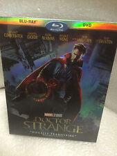 MARVEL DOCTOR STRANGE BLU RAY DVD 2 DISC SET + SLIPCOVER SLEEVE NEW Sealed