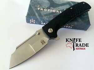 Komoran KO022 Folding Pocket Knife Flipper Deployment Sheepsfoot G10 Handle EDC