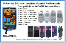 CAME Compatible Universal 2-Channel receiver 12-24V AC/DC 433.92MHz.