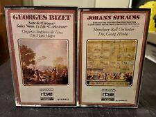 2 Classical cassettes Georges Bizet Suite Carmen Johann Strauss orchestra RTVE
