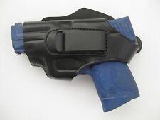 Armadillo Left Black Leather Belt Holster w/clip Kel-tec PF9 Models (H2BL-PF9)