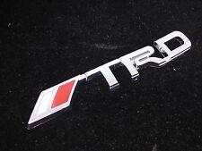 New Toyota Corolla Camry Celica Supra Tundra Tacoma Rear Side TRD Chrome Emblem