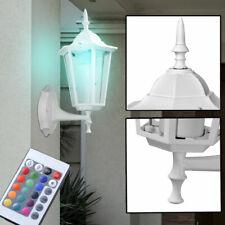 RGB LED Exterior Pared Linterna Terraza Parque Luz Aluminio Regulador Mando IP44