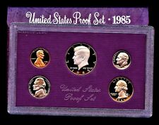 1985 S (1) ONE LOT/SET = 5 PROOF COINS ORIGINAL MINT PACKAGING FREE SHIP