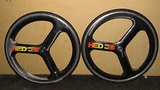 HED 3 Tubular Wheelset 650c Front & Rear Shimano tt/tri hed3 traithlon h3 carbon