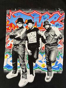 Run DMC Black Cotton T Shirt -Large - Free Post