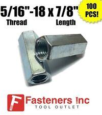 Qty 100 516 18 X W716 X L78 Coarse Grade A Hex Rod Coupling Nut Zinc