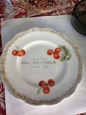 MERRY CHRISTMAS PLATE STEWART GRIMM O'CONNELL CO HUDSON WISCONSIN WIS WI 1910's