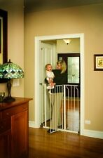 Pet Gate Kid Door Tall Walk Thru Indoor Wall Mounted Dog Cat Stair Hall Safety