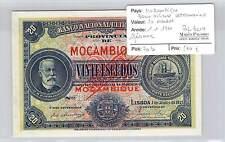 SPECIMEN BILLET MOZAMBIQUE BANCO NACIONAL ULTRAMARINO - 20 ESCUDOS 1-1-1921