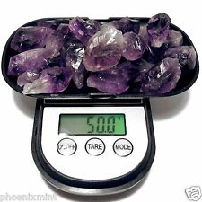 50+ Grams Uruguay AMETHYST Lot Natural Crystal Point in Velvet Bag RANDOM PICK