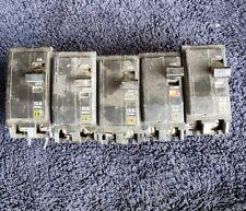 Lot of 5 Square D Qo240 40 Amp 2 Pole Circuit Breakers (120/240 Volt)