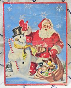 Vintage 1954 Whitman Santa with Snowman Tray Puzzle - No. 2620:29 - Very Nice!