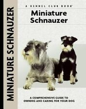 Miniature Schnauzer KENNEL CLUB BOOKS Hardcover BOWTIE ILLUSTRATED Puppy Dog NEW
