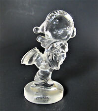 Enesco Samuel J. Butcher 1992 Crystal Glass Scating Girl Figurine Germany (w5-2)