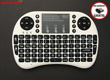 Rii i8+ Funk Kabellos Mini Tastatur Touchpad Wireless Keyboard Backlit Deutsch