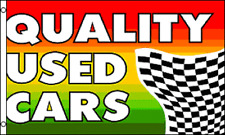 Quality Used Cars Flag 3' X 5' Indoor Outdoor Multi-Color Business Banner