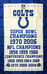 Indianapolis Colts NFL Super Bowl Championship Flag 3x5 ft Banner Man-Cave New