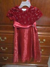 Byergirl Girls Size 5 Holiday Dress- Maroon Color Girls Christmas Dress