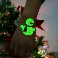 Waterproof Luminous Christmas Art Fake Body Temporary Tattoo Stickers Removable