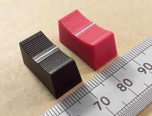 22mm Fader Knob Slider Cap for 4mm Tapered Shaft Mixer Controls, Various Colours