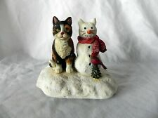 Land & Wise Curious Cats Christmas Music Box Double Trouble