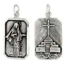 Sterling Silver St. Mary Medal Pendant / Charm