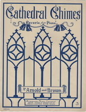 Cathedral Chimes, 1913, vintage sheet music
