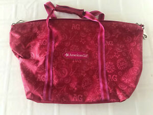 American Girl Large Tote Overnight Bag Carry On Red/Pink TS0
