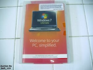 MS Microsoft Windows 7 Ultimate 64 bit x64 DVD Full English MS WIN =BRAND NEW=