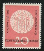 Germany 1957 MNH Mi 255 Sc 765 Abbey and town of Aschaffenburg.Arms **