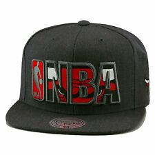 "Mitchell & Ness Chicago Bulls Snapback Dark Grey Heather/""NBA"" Reflective"