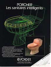 PUBLICITE ADVERTISING 094  1987  PORCHER  sanitaires wc
