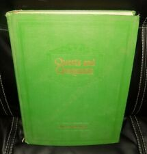 QUESTS AND CONQUESTS by Dean C. Dutton PhD 1953 Hardcover - Green