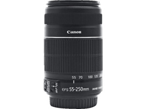 Objetivo - Canon EF-S 55-250 mm f/4-5.6 IS STM, Negro