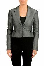 C'N'C Costume National Gray One Button Women's Blazer US S IT 40