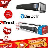 ALTOPARLANTE Trust Soundbar PC 6 Watt USB Aux Uscite cuffie Wireless Bluetooth