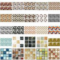 6/20pcs Kitchen Waterproof Tiles Mosaic Wall Stickers Adhesive Art Decor
