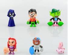 6pcs/lot Teen Titans Toys Go Action Figure Teen Titans Robin, Raven, Beast Boy