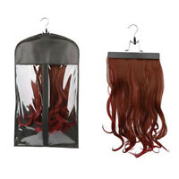 KQ_ PVC Wig Hangers Hair Extension Carrier Storage Bag Wig Dust Proof Bag Pouch