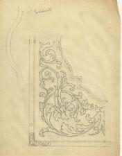 Lucido Preparatorio per Affresco Stile Liberty Disegno Art Nouveau 1900 c.a