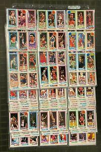 1980-81 Topps Basketball Complete Set (176) Larry Bird & Magic Johnson RC Rookie