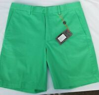 Fennec Super Soft Cotton/Span Flat Front Casual Shorts NWT Augusta Green $29.99