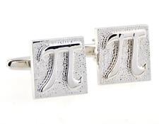 Dad Fancy Gift Box & Polishing Cloth Pi 3.1415 Math Pair Cufflinks Wedding Groom