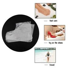 100Pcs Disposable Plastic Foot Cover Transparent Paraffin Wax  Therapy Boot US
